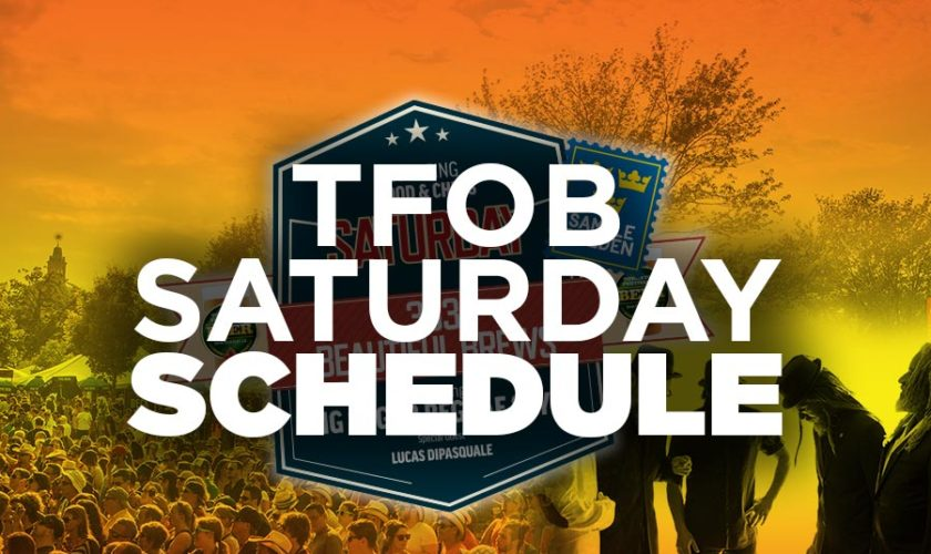 TFOB 2016 Saturday Schedule
