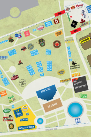 Toronto's Festival of Beer Site Map